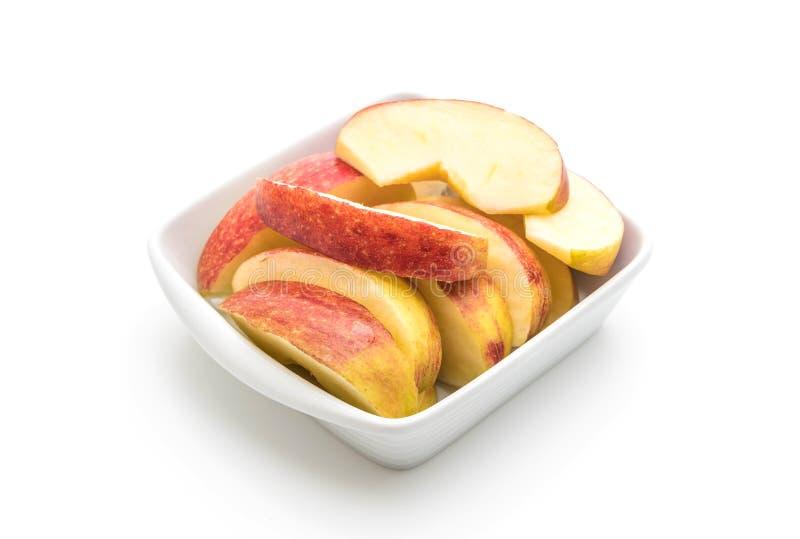 Fresh apple sliced. Isolated on white background royalty free stock image