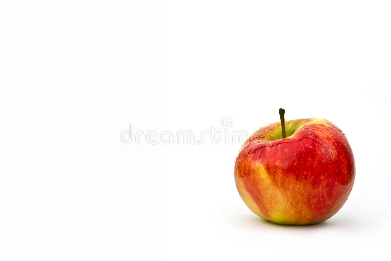 Fresh apple on a white background royalty free stock photo