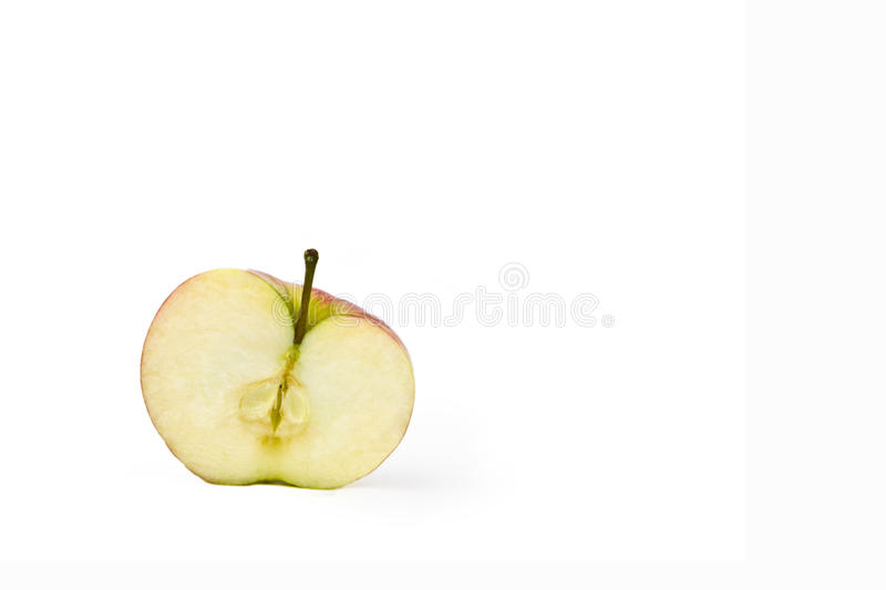 Fresh apple on a white background royalty free stock photography
