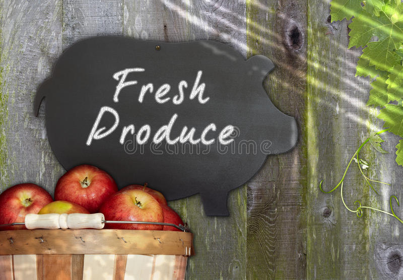 Download Fresh Apples & Black Pig Chalkboard Menu Grape Stock Image - Image: 22423241