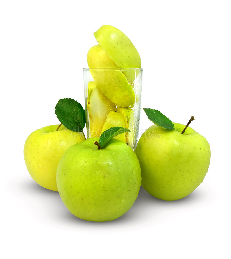 Download Fresh apples and glass stock photo. Image of half, full - 2781068