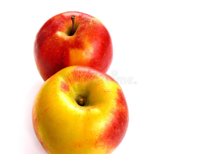 Fresh apples isolated on white background royalty free stock photography