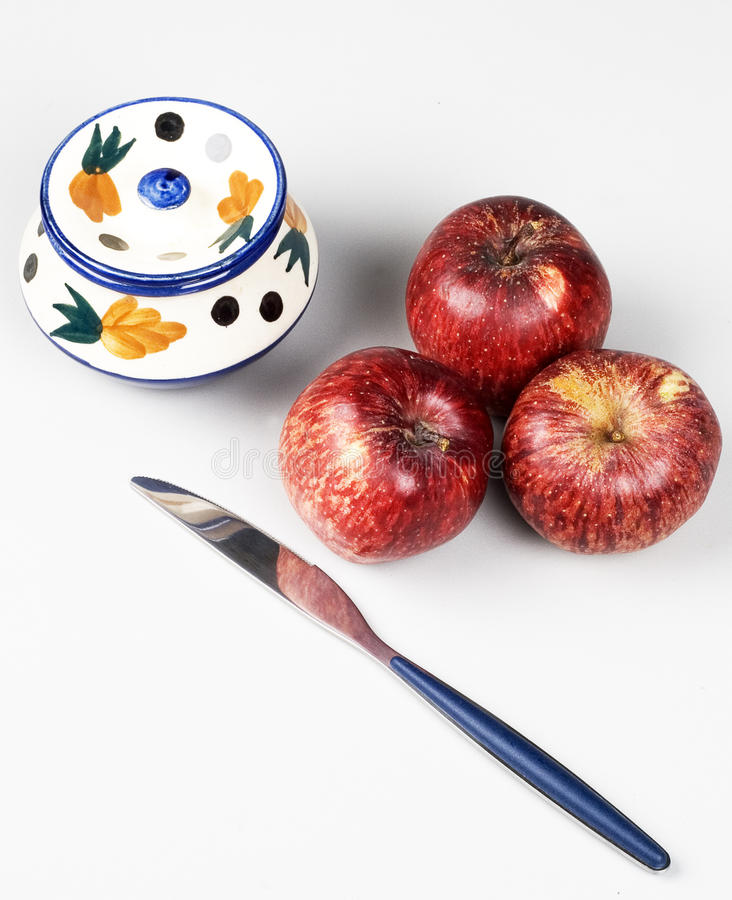 Fresh Apples and Knife royalty free stock image
