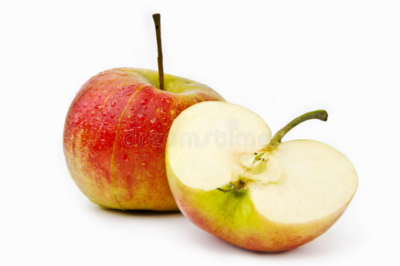 Fresh apples on a white background stock images