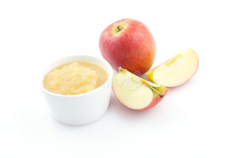 Fresh applesauce royalty free stock photos