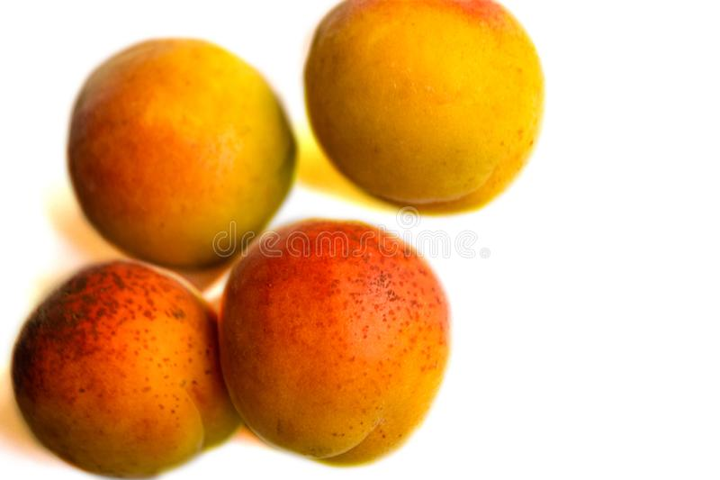 Fresh apricot fruits half. Apricot isolated on white background. Apricot collection Clipping Path. Professional studio macro stock photos