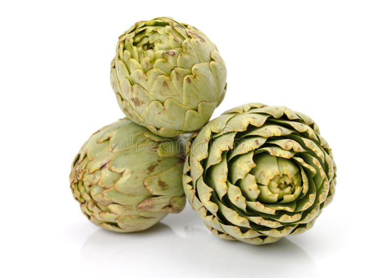 Fresh artichoke. On a white background royalty free stock images