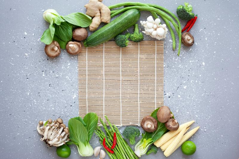 Fresh asian cuisine ingredients royalty free stock images