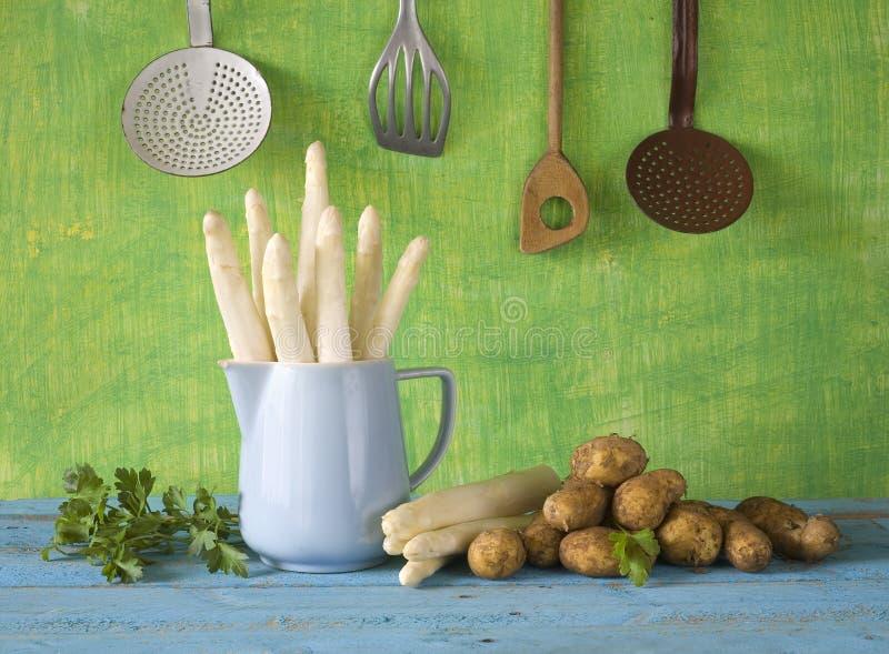 Fresh asparagus stock images