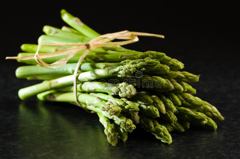 Fresh Asparagus Tips Stock Images