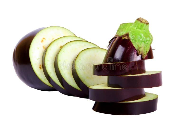 Fresh aubergine royalty free stock image