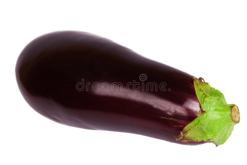Fresh aubergine. / slices on the white background - isolated stock images