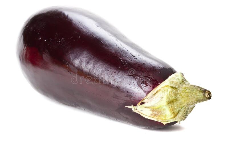Fresh aubergine isolated. On white royalty free stock photo
