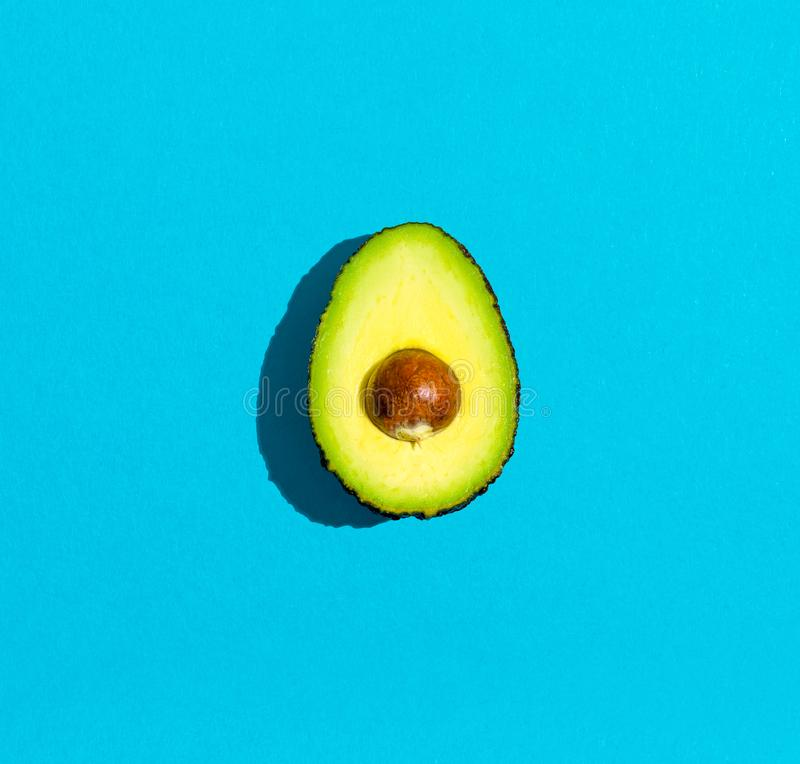 Fresh avocado with pit royalty free stock image
