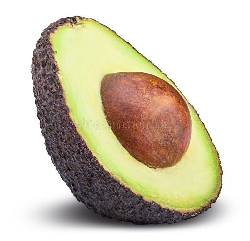 Fresh avocado isolated on white background royalty free stock photography