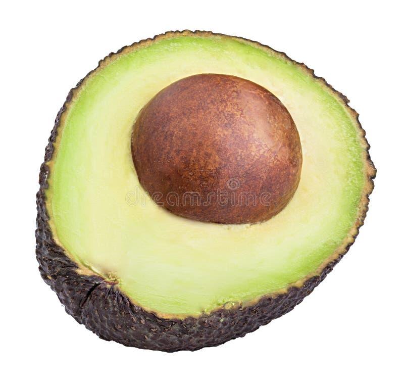 Fresh avocado isolated on white background stock photo