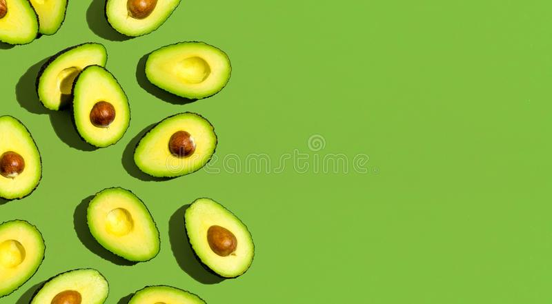 Fresh avocado pattern royalty free stock images