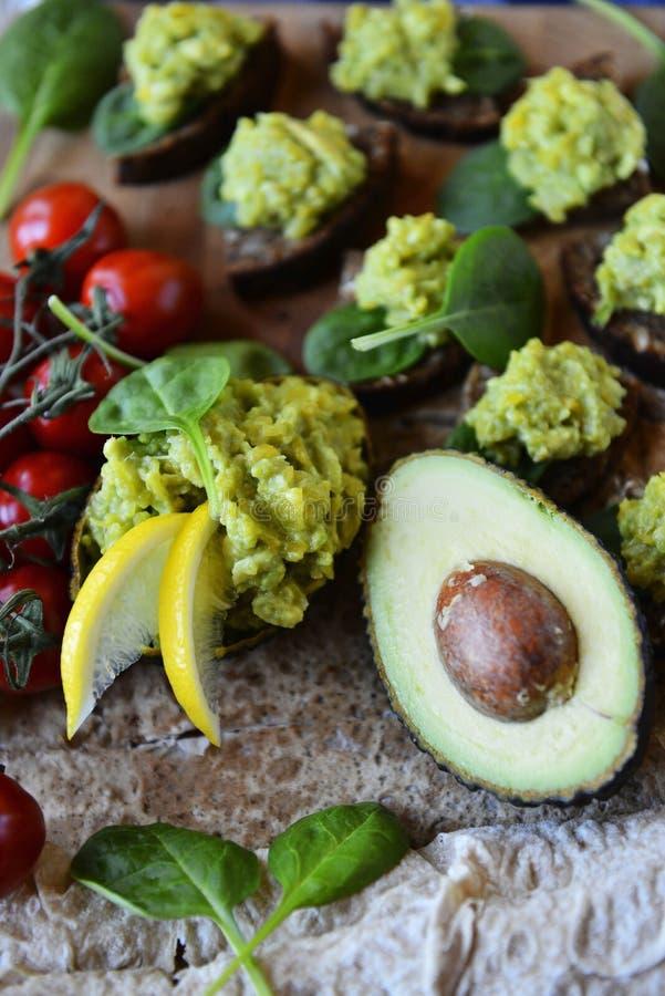 Fresh Avocado Snack stock image