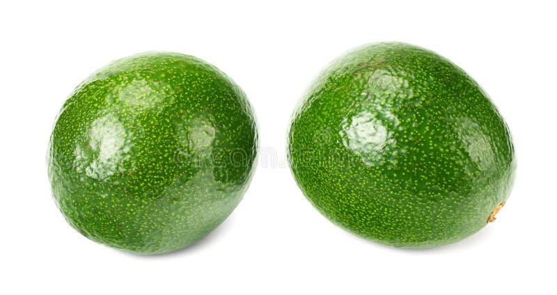 Fresh avocados isolated a on white background royalty free stock photo