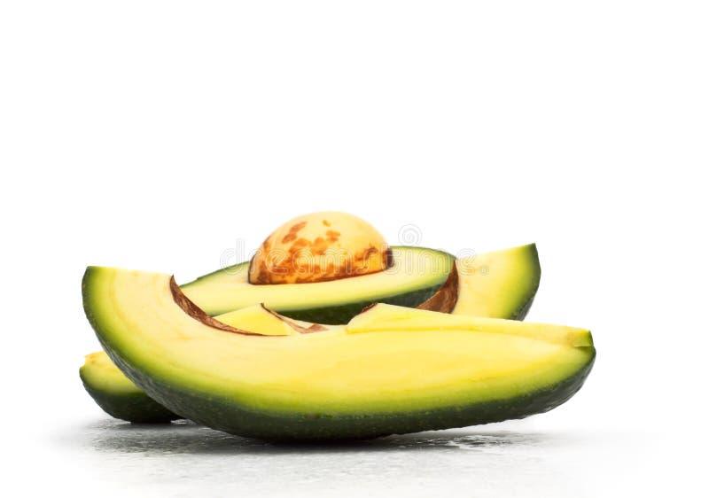 Fresh avokado slices stock image