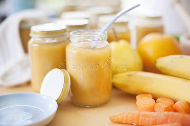 Fresh baby food stock image