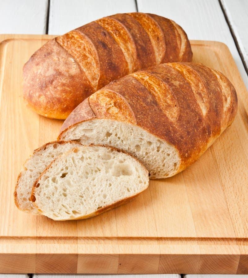 Fresh baked white bread stock photography