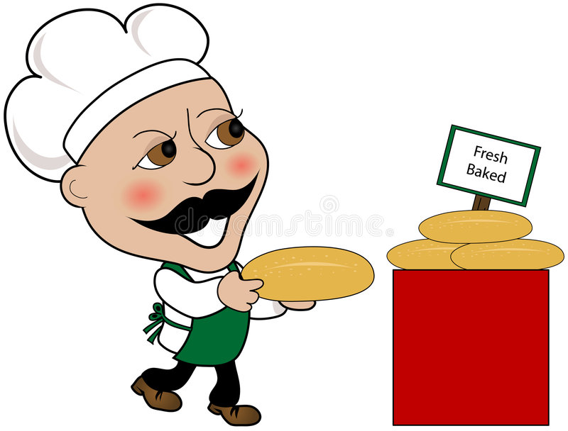 Fresh baked bread royalty free illustration