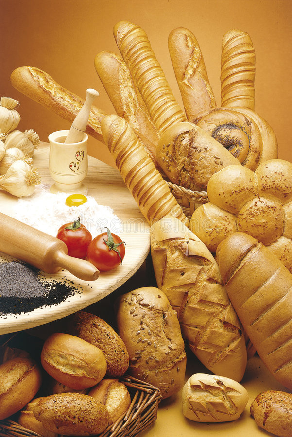 Download Fresh baked breads stock photo. Image of assorted, rolls - 8297560