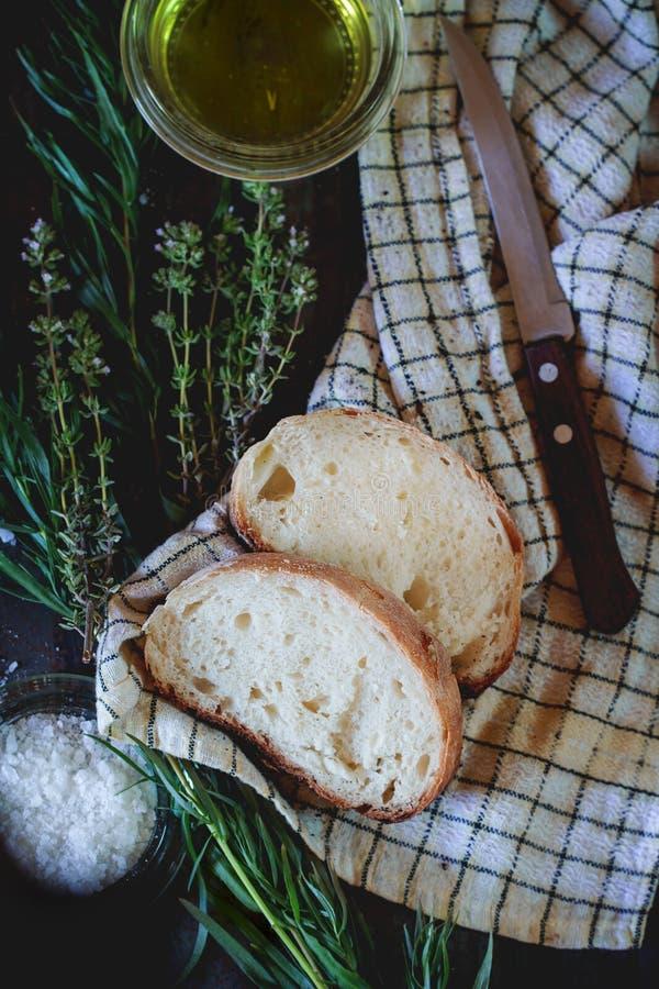 Fresh baked ciabatta bread royalty free stock photos