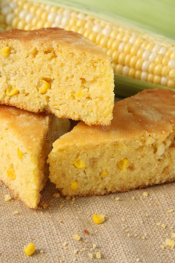 Download Fresh Baked Corn Bread stock photo. Image of maize, napkin - 9171546