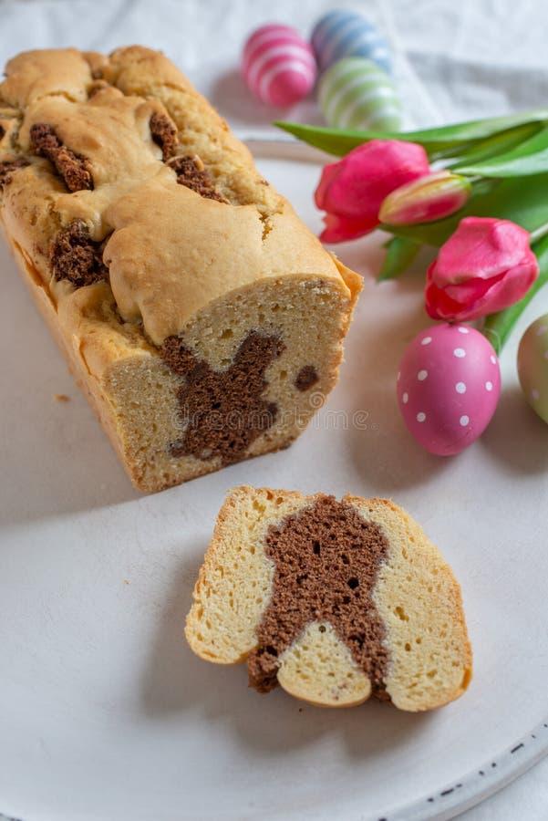 Fresh baked Easter Bunny Cake stock photos