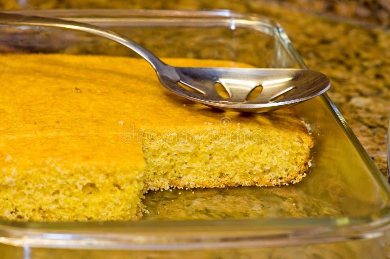 Fresh-baked, Golden Cornbread-2 royalty free stock images