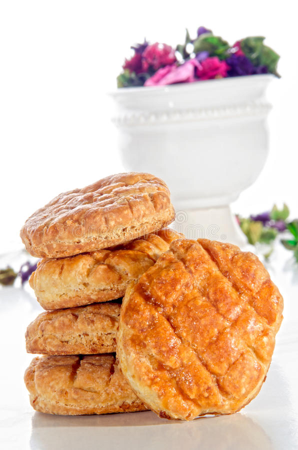 Fresh baked hungarian scone stock photos