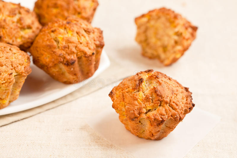 Fresh baked muffins royalty free stock images