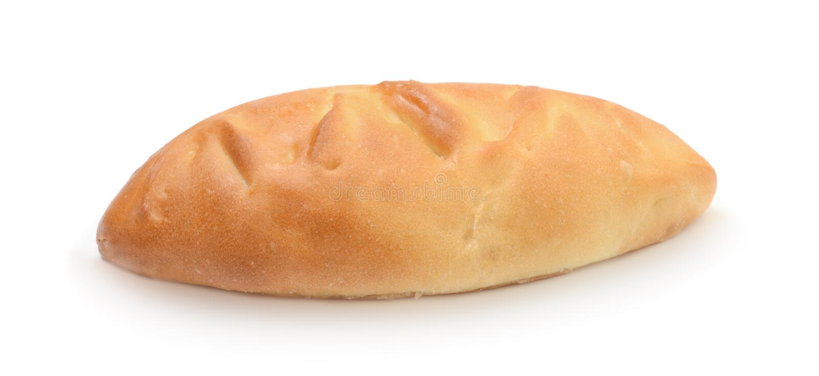 Fresh baked russian pastry pirozhki isolated stock photo