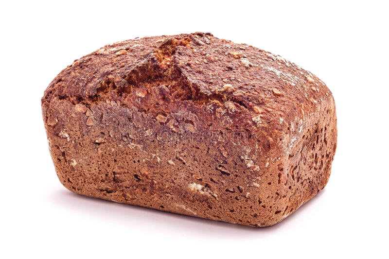 Fresh baked whole wehat bread isolated stock image