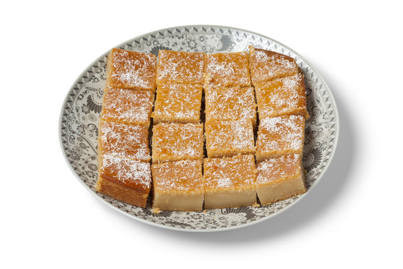 Fresh baked yogurt Moroccan cake royalty free stock images