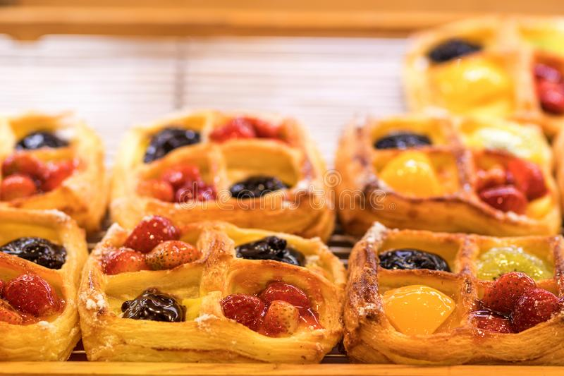 Fresh bakery products in the shop. Bali island. royalty free stock photography