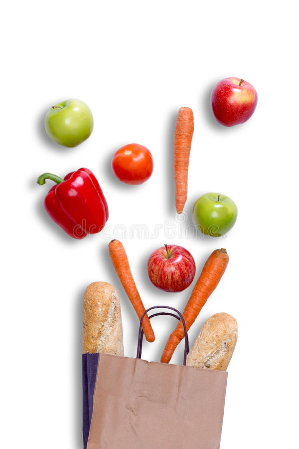 Free Fresh Balanced Grocery Shopping Concept Stock Photography - 42297892