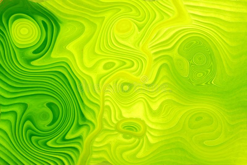 Green tone oil background. Background Green oil, circle back and forth. Water color stock illustration