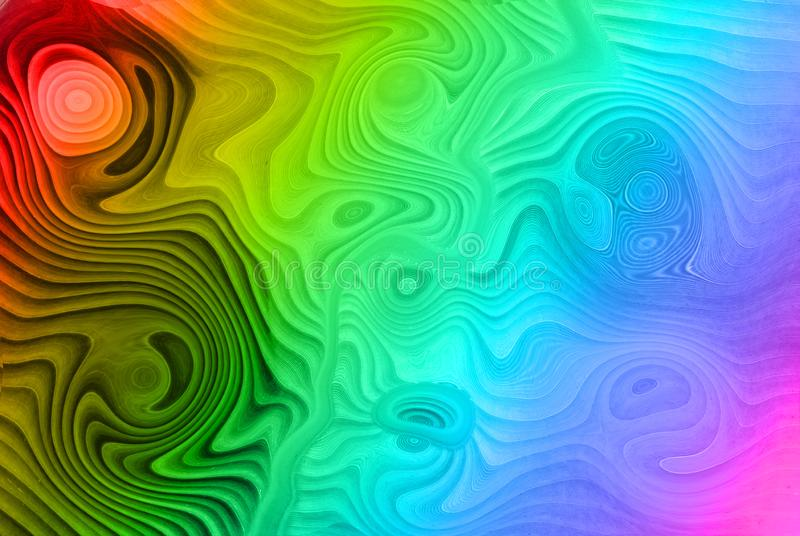Colorful tone oil background. Background Colorful oil, circle back and forth. Water color stock illustration