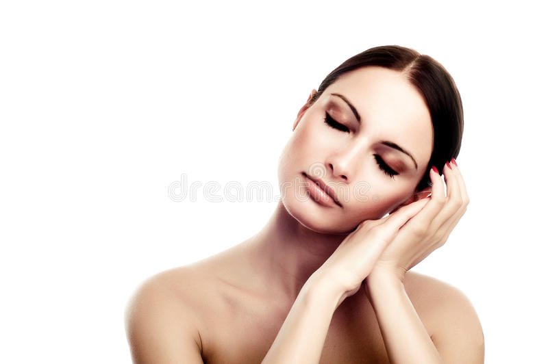 Fresh and Beautiful woman royalty free stock photography