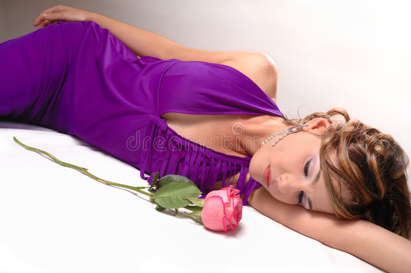 Fresh beauty with rose stock image