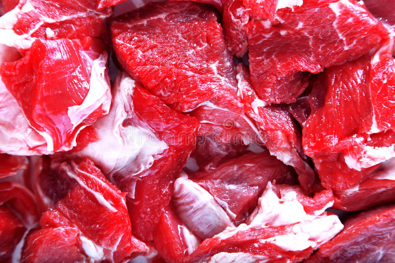 Fresh beef. Close-up view royalty free stock photo