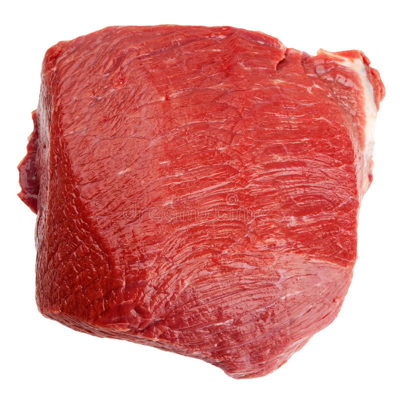 Download Fresh beef slab isolated stock photo. Image of meat, cholesterol - 25663724