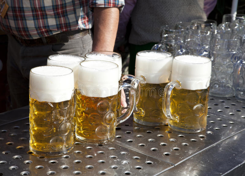 Fresh beer Oktoberfest royalty free stock photography