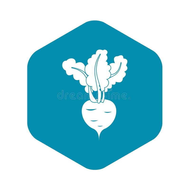 Fresh beetroot icon, simple style. Fresh beetroot icon in simple style isolated on white background royalty free illustration