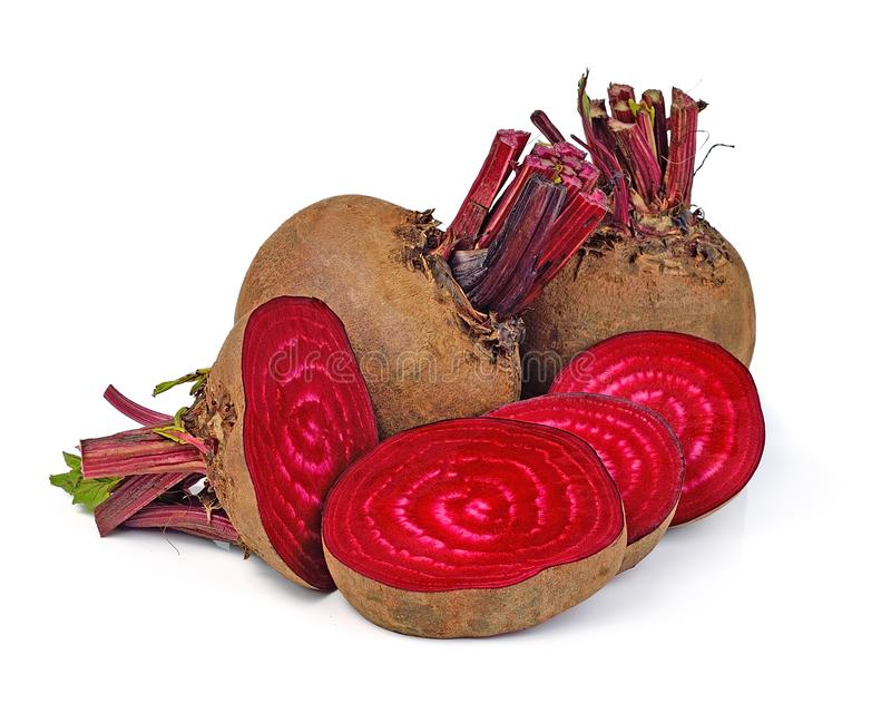 Fresh beetroot isolated on white background royalty free stock images