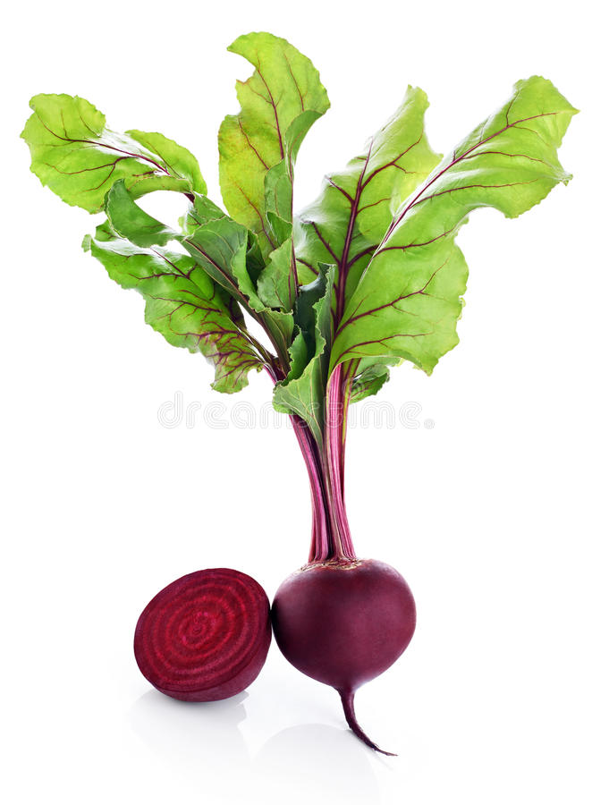 Fresh beetroot isolated on white background stock images