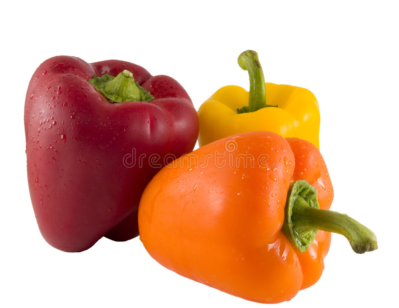 Fresh Bell Peppers stock photography